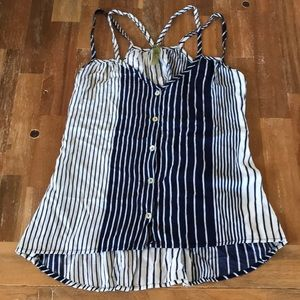 Tops - Navy and white top